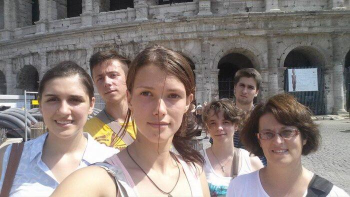 Selfi a Colosseumnál